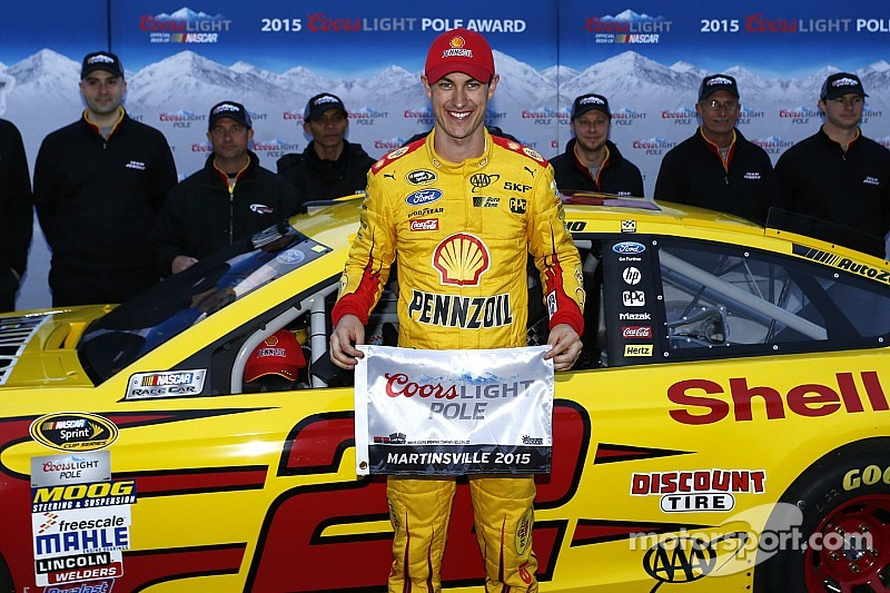 Logano earns his first career pole at Martinsville