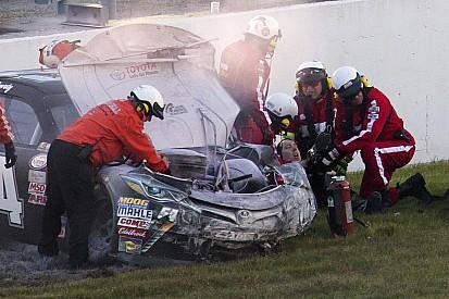 NASCAR ovals react to Busch's leg-breaking crash
