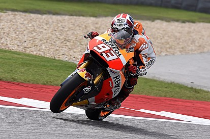 Marquez maintains practice advantage over rivals at Austin