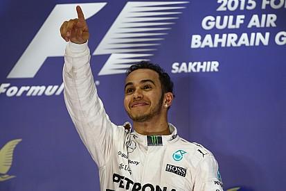 Hamilton wins in Bahrain as Raikkonen charges to second