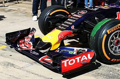 Red Bull presentó su nueva nariz acortada