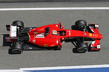 Vettel second and Raikkonen fourth in the second free practice session for the Spanish GP