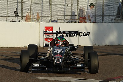 Jamin makes last lap pass on Eidson to win USF2000 at Indy