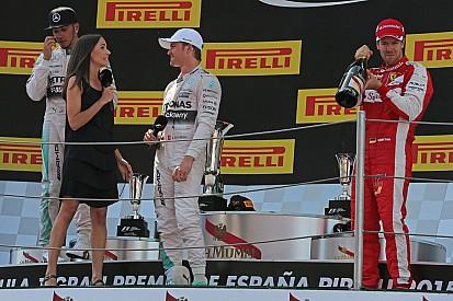 Rosberg presumió su español en Barcelona