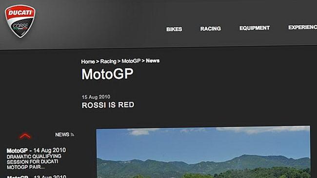 La gaffe del sito ufficiale Ducati
