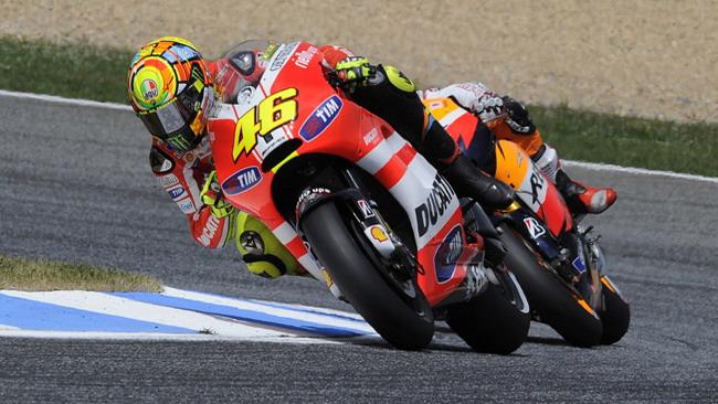 Rossi confida nella stabilità in staccata della Ducati