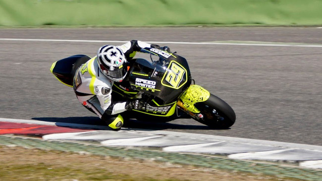 Andrea Iannone promuove la Speed Up a Vallelunga