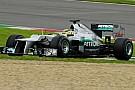 La Mercedes ha provato un nuovo cambio in carbonio