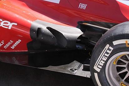 Nuova soluzione degli scarichi sulla Ferrari F2012