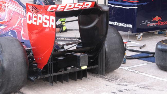 La Toro Rosso ha cambiato il diffusore posteriore