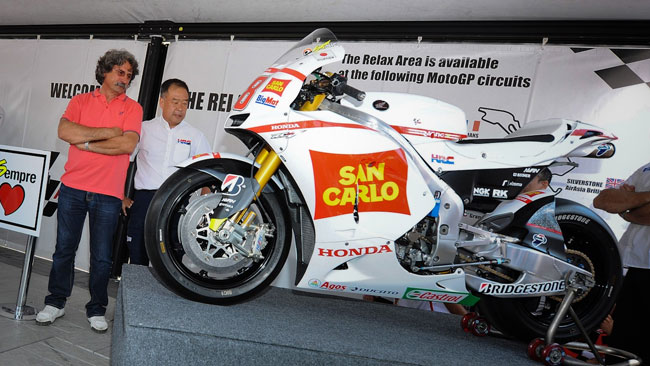 Honda regala la RC212V numero 58 ai Simoncelli