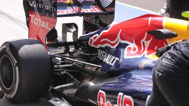 La Red Bull ha cambiato l'ala inferiore posteriore