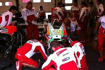 La pioggia rallenta i test della Ducati al Mugello