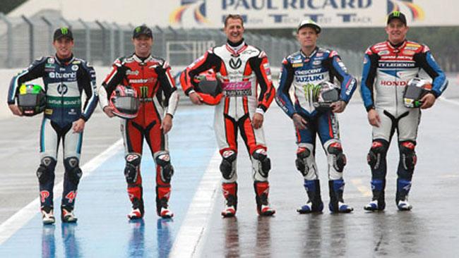 Schumacher sulla Ducati Panigale al Paul Ricard