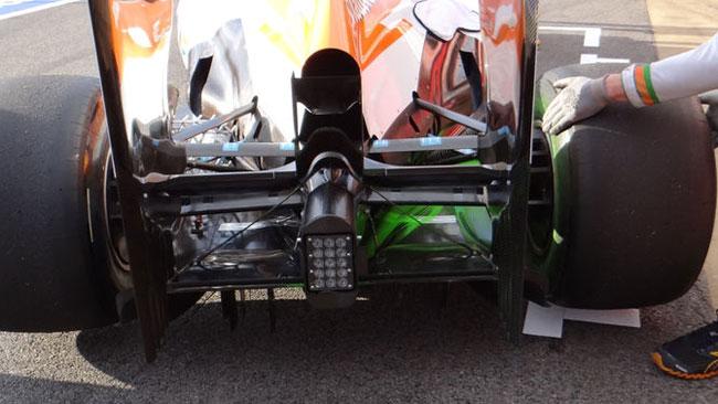 La Force India ci rivela l'effetto dei gas soffianti