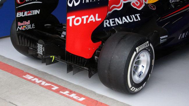 Ecco il nuovo diffusore usato dalla Red Bull Racing