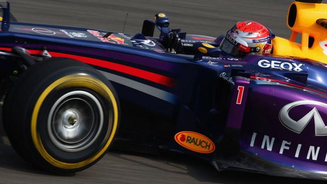 Il distacco dai primi preoccupa un po' Vettel
