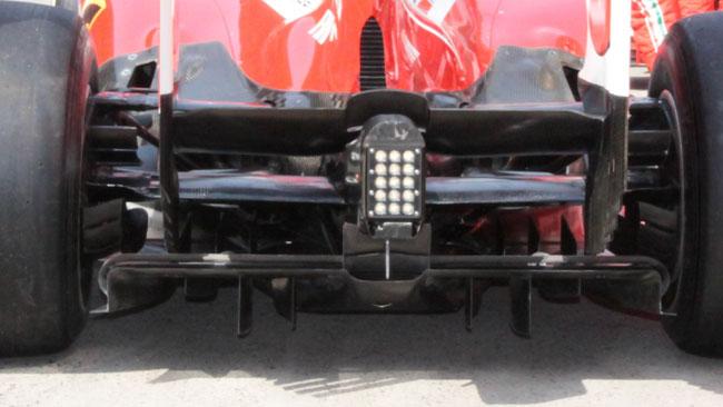 Ferrari, positive le modifiche al diffusore posteriore