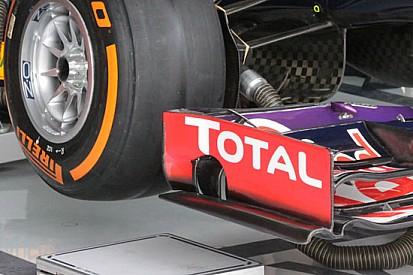 La Red Bull con il portamozzo forato e l'ala nuova