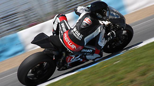 Anche Matteo Baiocco ai test Ducati di Misano