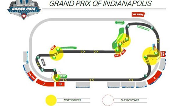 Indianapolis cambia l'infield per Indycar e le moto