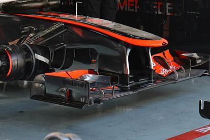 La McLaren cambia l'infulcraggio fra ala e supporto