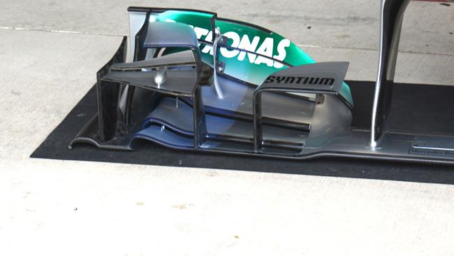 La Mercedes cambia vernice per studiare i flussi