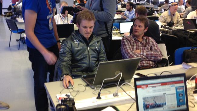 Rosberg? Fa il giornalista in sala stampa