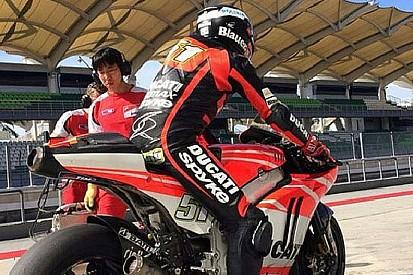 Un caldo infernale accoglie Pirro e la Ducati a Sepang