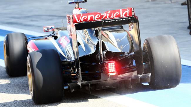 Ecco l'interessante retrotreno della Lotus E22