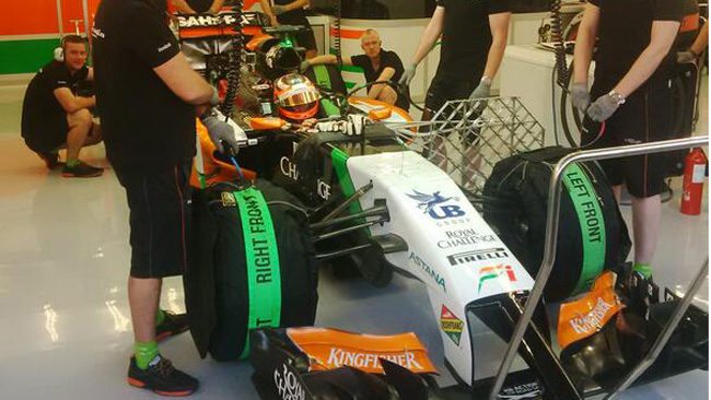 Force India: prove di aerodinamica per Hulkenberg