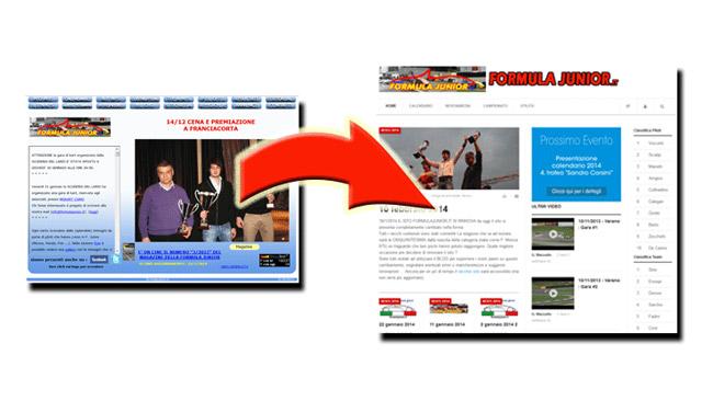 La Formula Junior lancia il nuovo sito ufficiale