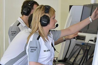 Bernadette è l'ingegnere di Jenson Button