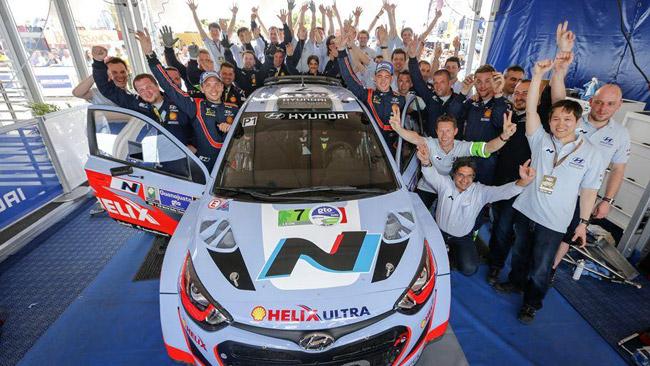 La Hyundai i20 WRC sul podio alla terza gara iridata!