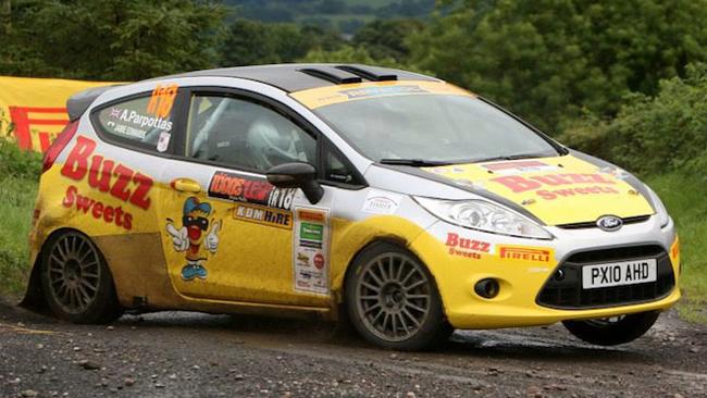 Alex Parpottas in Junior Championship con una Fiesta
