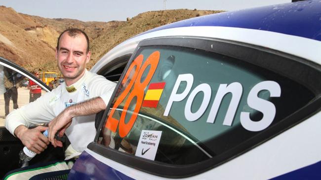 Xevi Pons ad Ypres con una Ford Fiesta R5