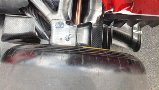 Ferrari: prese dei freni da alto carico aerodinamico