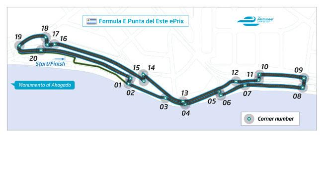Ecco il tracciato di Punta del Este per la Formula E