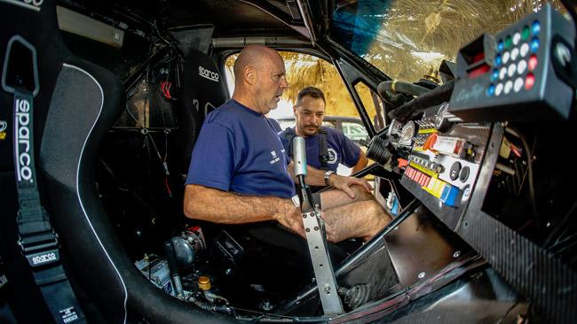 Miki Biasion al Rally del Marocco con Tecnosport