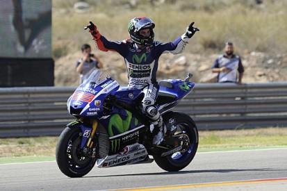 MotoGP Aragon: Jorge Lorenzo wins as Marc Marquez crashes out