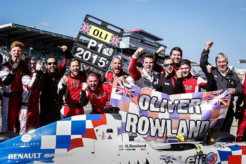 Oliver Rowland wins 2015 Formula Renault 3.5 title with Fortec
