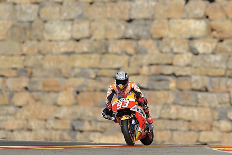 Aragon MotoGP: Marc Marquez leads Honda one-two in practice three