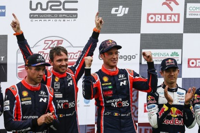 Neuville frustrated WRC rivals let Ogier onto Rally Poland podium