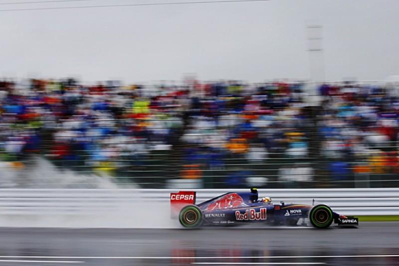 Japanese F1 GP: Toro Rosso's Carlos Sainz Jr leads wet practice