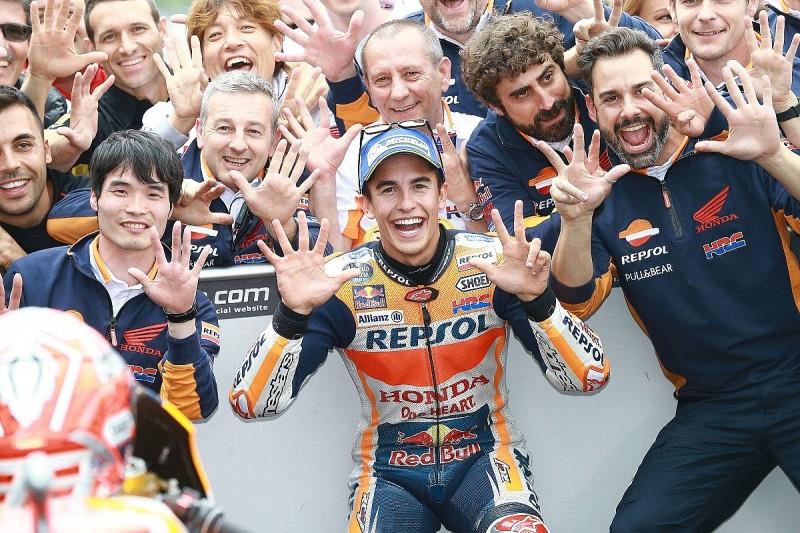 Sachsenring MotoGP: Marc Marquez fends off Jonas Folger to win