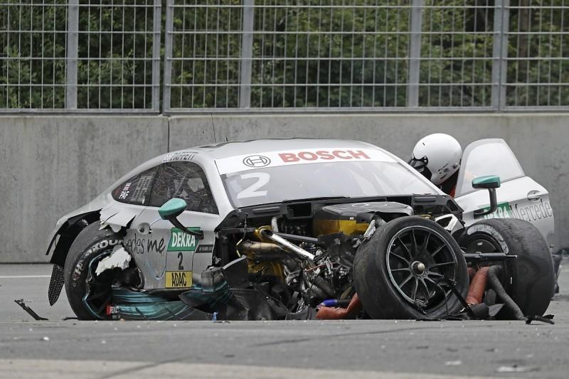 Paffett, Rockenfeller taken to hospital after Norisring DTM crash