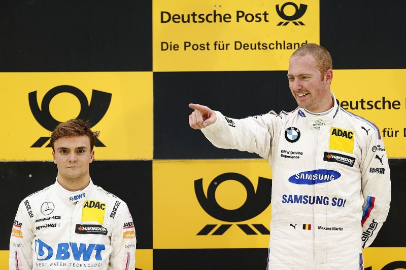 Norisring DTM: BMW's Martin defeats Mercedes' Auer after crash