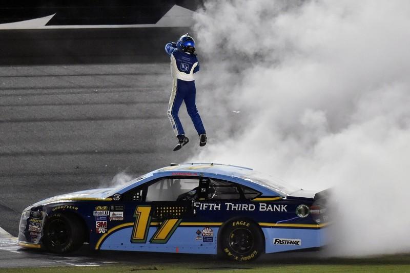 Daytona NASCAR: Ricky Stenhouse Jr wins wild race for Roush Fenway