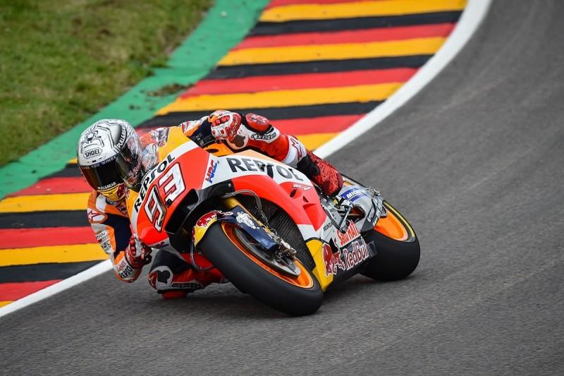 Sachsenring MotoGP: Honda's Marquez leads after frantic end to FP3