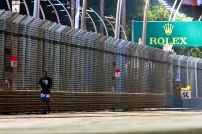 Singapore GP: Track invader was 'crazy' says Sebastian Vettel